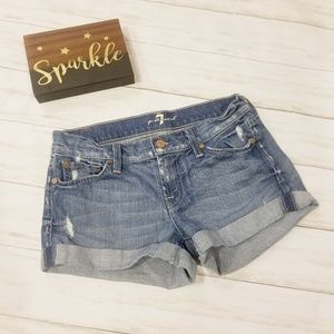 7 FOR ALL MANKIND DENIM SHORTS 26